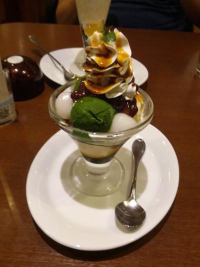 Green tea ice cream + mochi sundae from Denny's Akihabara