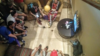 Gaming in the lobby
