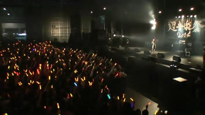 This screenshot is taken right after Nanjo announces her next song in the fripside performance: Shooting Star