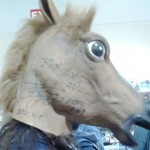 This Yui – Horsehead cosplayer was seen all around for some reason