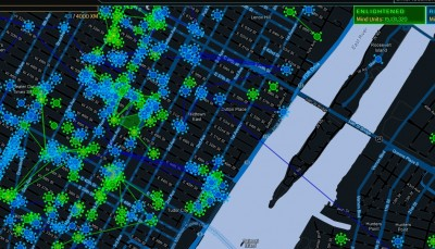 The Ingress world of Manhattan